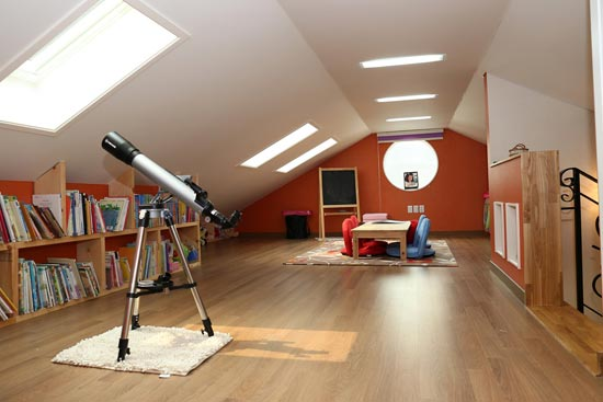 Neuer Wohnraum im Dachgeschoss
